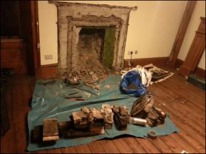 Fireplace recess