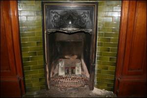 Victorian Fireplace Green Tiles