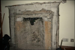 Fire surround removed