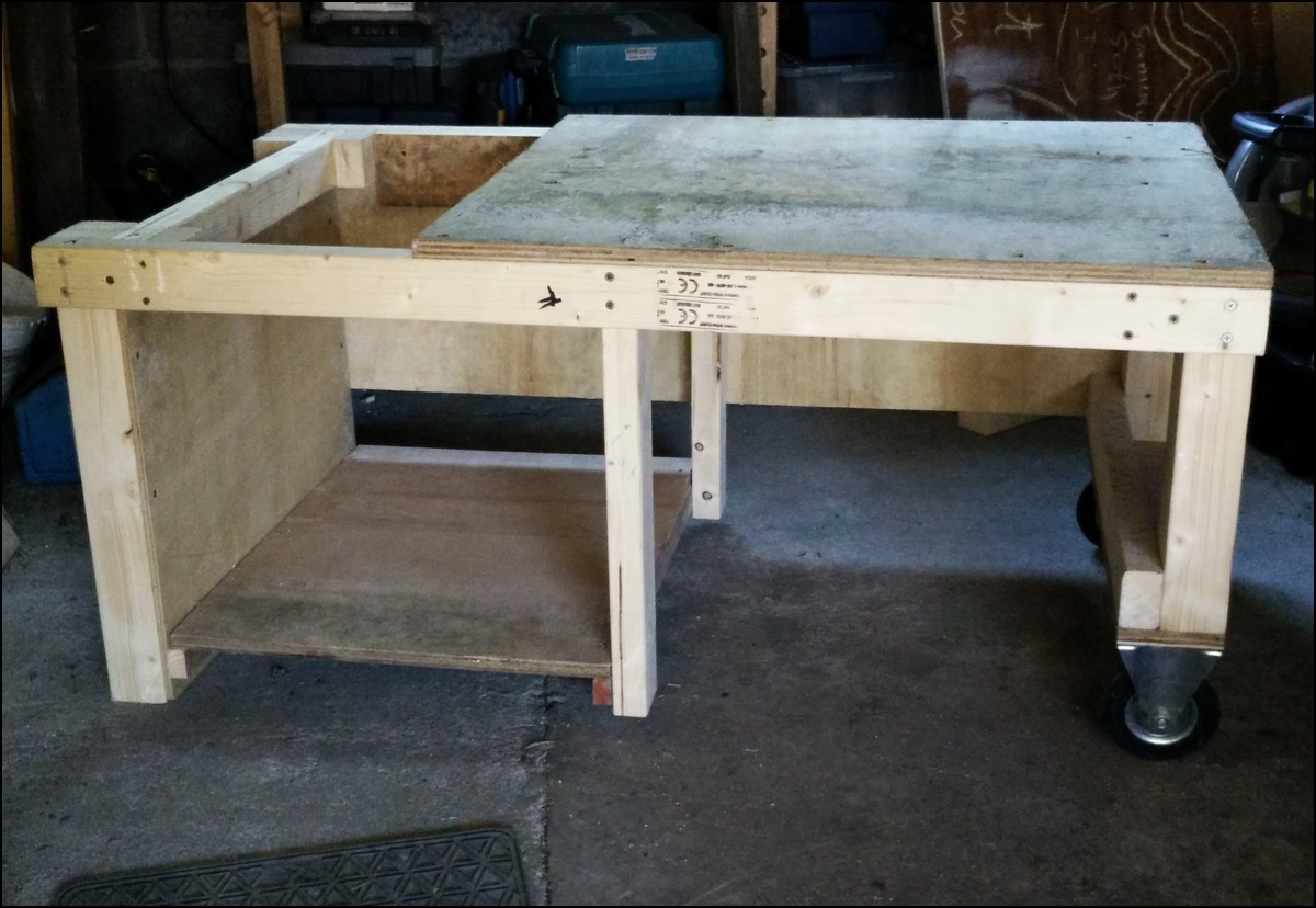 Table saw trolley